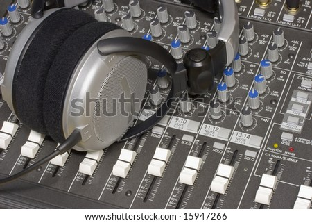 Sound mixing panel - stock photo