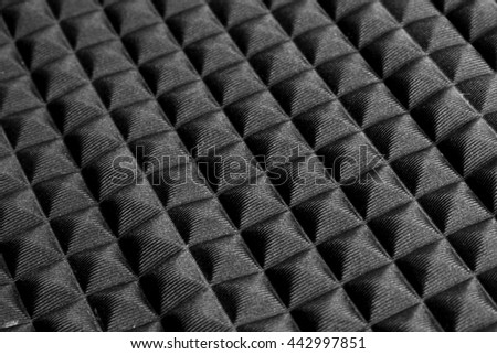 Sound proof texture close-up  - stock photo