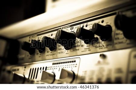 Sound studio effect rack - stock photo