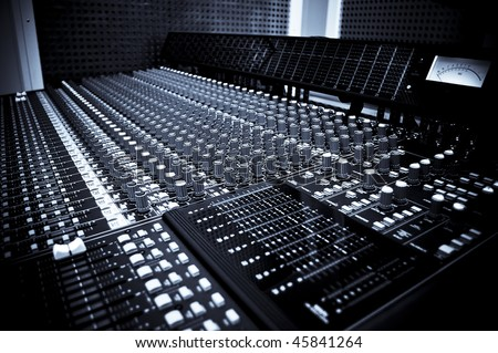 Sound studio equipment - stock photo