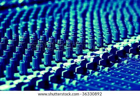 sound system pattern - stock photo