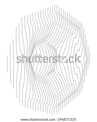 sound system speaker woofer made with lines - stock photo