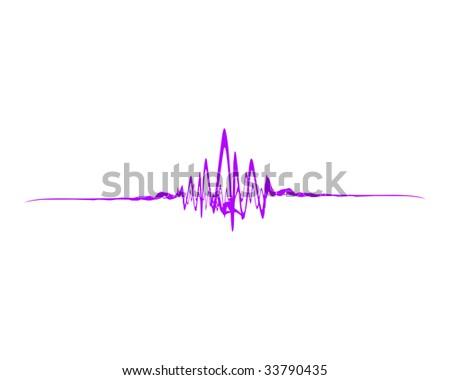 Sound wave - stock photo