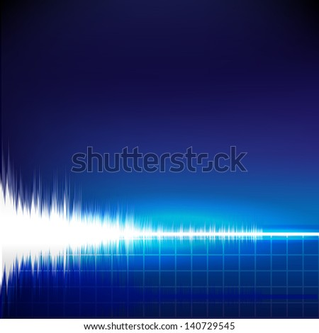 Sound wave abstract background - stock photo