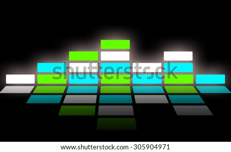 Sound wave and audio wave. - stock photo