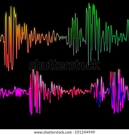 Sound wave background, technology and sound projects - stock photo