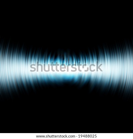 sound wave on a solid black background - stock photo