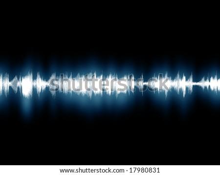 Soundwave graphic - stock photo