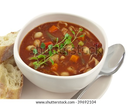 Soup bowl can you smell it? - stock photo