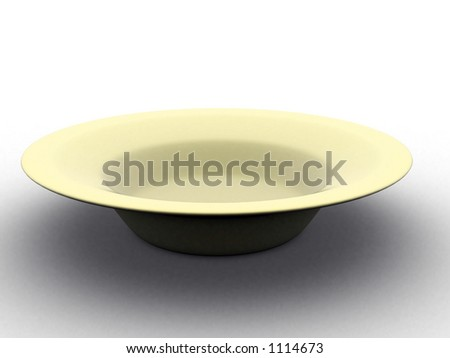 soup bowl - empty. isolated - stock photo