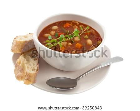 Soup bowl global view - stock photo