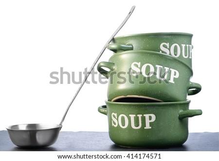 Soup dishware - stock photo