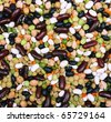 Soup mix of black and red string bean, lentil, green and yellow peas can use as background - stock photo