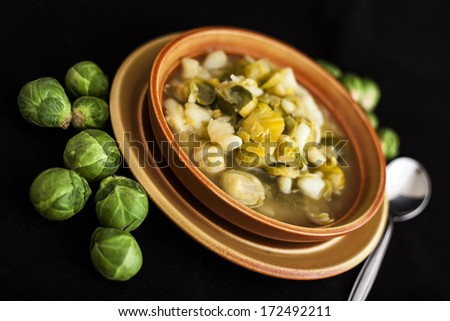 Soup of Brussels sprouts