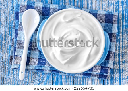 Sour cream - stock photo