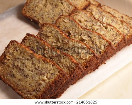 Sour Cream Banana Bread, homemade bakery - stock photo