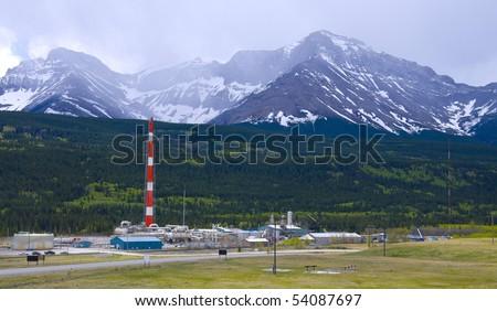 Sour Gas Plant - stock photo
