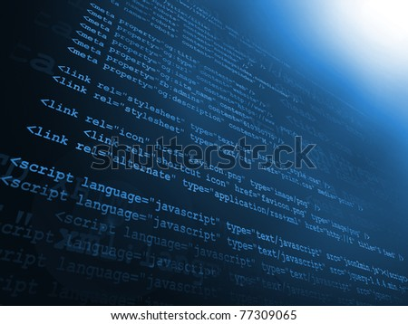 Source code - stock photo