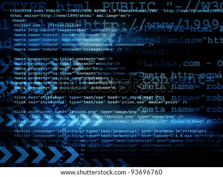 Source code - stock photo