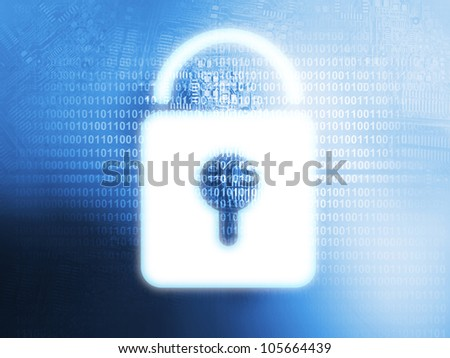 Source code technology background - security concept - stock photo