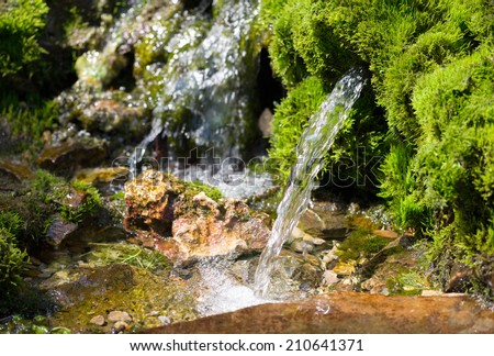 source of spring water