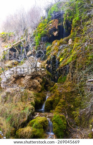 Source of the river Cuervo. Cuenca  - stock photo