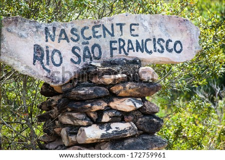 Source of the Sao Francisco River - Minas Gerais - Brazil - stock photo