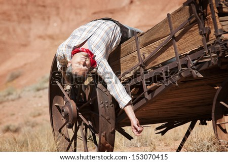SOUT WEST - A cowboy takes time to rest and reflect.  - stock photo