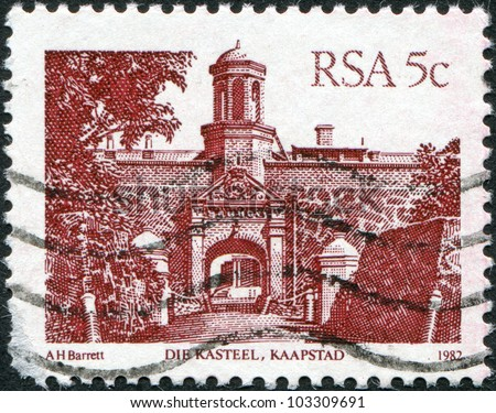 SOUTH AFRICA - CIRCA 1982: A stamp printed in South Africa (RSA), shows Castle of Good Hope, Cape Town, circa 1982 - stock photo