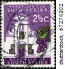 SOUTH AFRICA - CIRCA 1961: A stamp printed in South Africa shows Cape Towns Groot Constantia wine estate, circa 1961 - stock photo