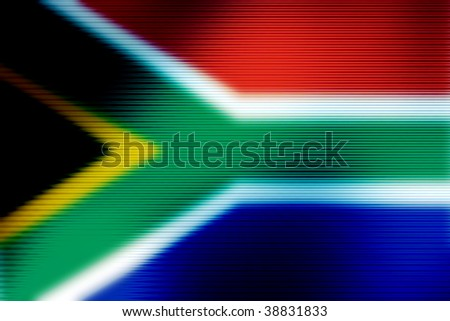 south africa flag abstract background image - stock photo
