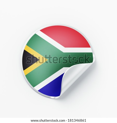 South Africa Flag isolated on white background