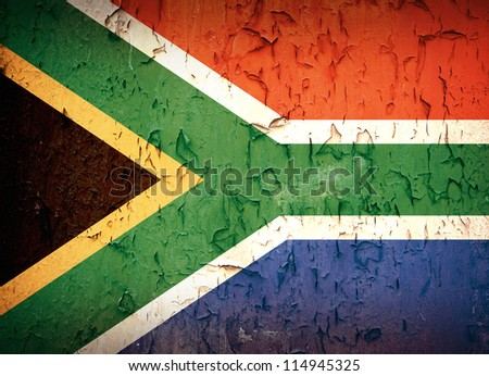 South Africa flag, vintage effect. - stock photo