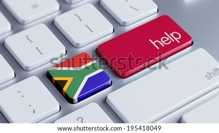 South Africa High Resolution Help Concept - stock photo