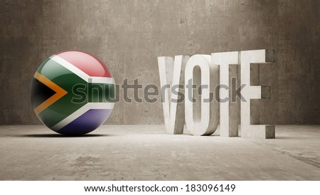 South Africa High Resolution Vote Concept - stock photo