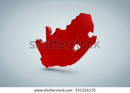 South Africa Map - stock photo