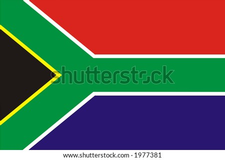 South African flag - stock photo