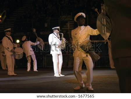 South African Navy Band - stock photo