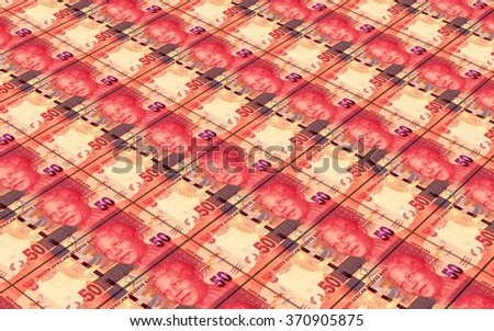 South african rands bills stacks background. Computer generated 3D photo rendering. - stock photo