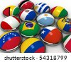 south america flags - stock