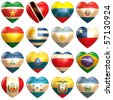 South American Hearts - stock