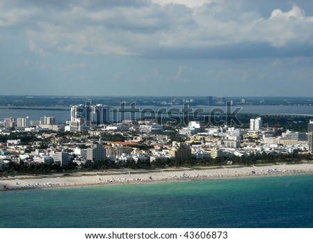 South Beach Aerial looking Northwest - stock photo