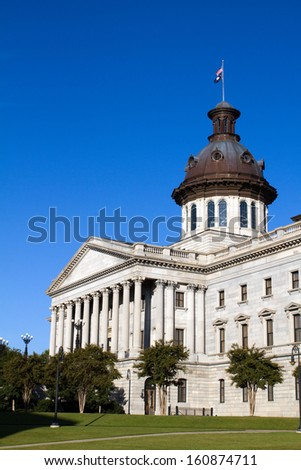 South Carolina capital building located in the city of Columbia, SC. - stock photo