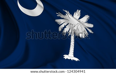 South Carolina flag - USA state flags collection no_3 - stock photo