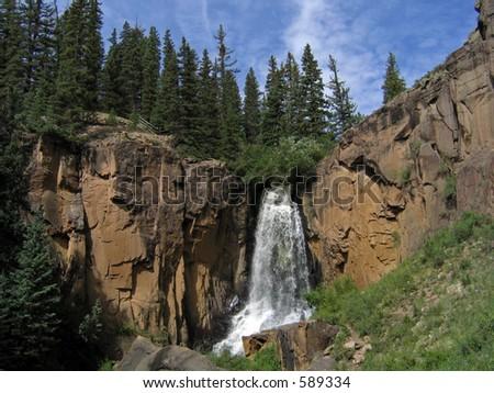 South Clear Creek Falls, Colorado - stock photo