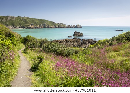 South coast of Guernsey island, UK, Europe