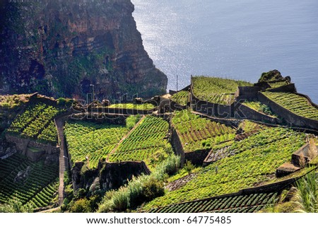 South coast of Madeira island - Portugal - stock photo