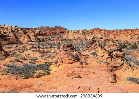 South Coyote Buttes in the Arizona desert, USA. - stock photo