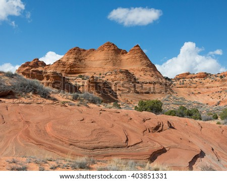 South Coyote Buttes, Utah, USA - stock photo
