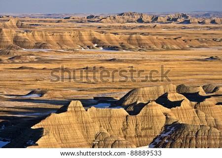 South Dakota Badlands - stock photo